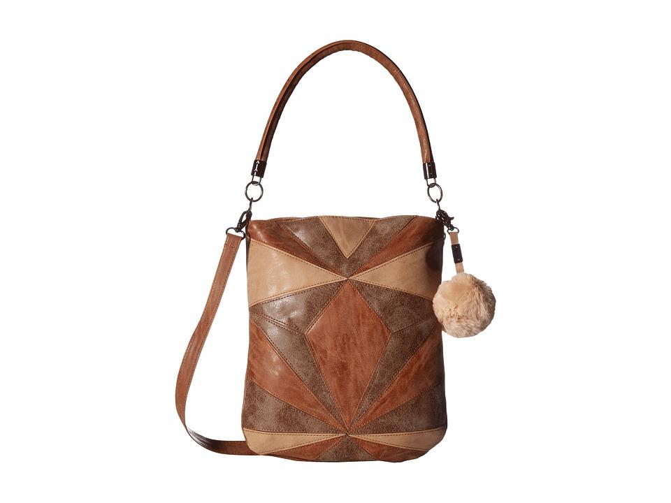 Circus by Sam Edelman - Whitney Patchwork Shoulder Bag (Multi Cognac) Shoulder Handbags
