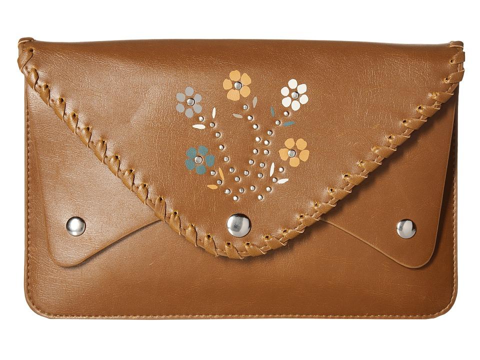 Circus by Sam Edelman Ziggy Clutch (Cognac/Flower/Studs) Clutch Handbags