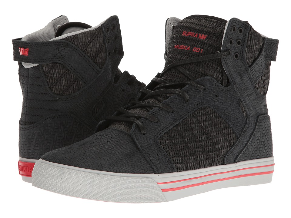 Supra - Skytop (Black/Light Grey/Red) Men's Skate Shoes