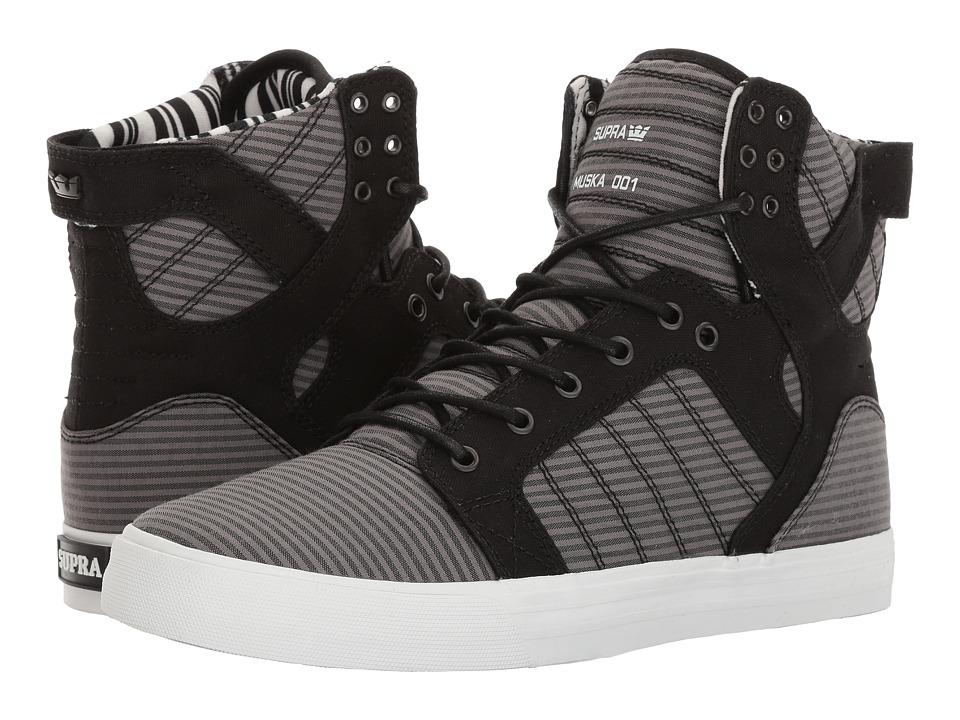 Supra - Skytop (Black/Black/Grey/White) Men's Skate Shoes