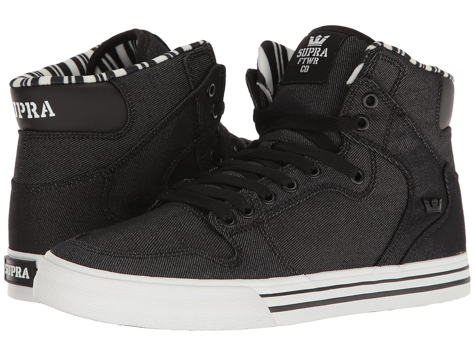 Supra - Vaider (Black Denim/White) Skate Shoes