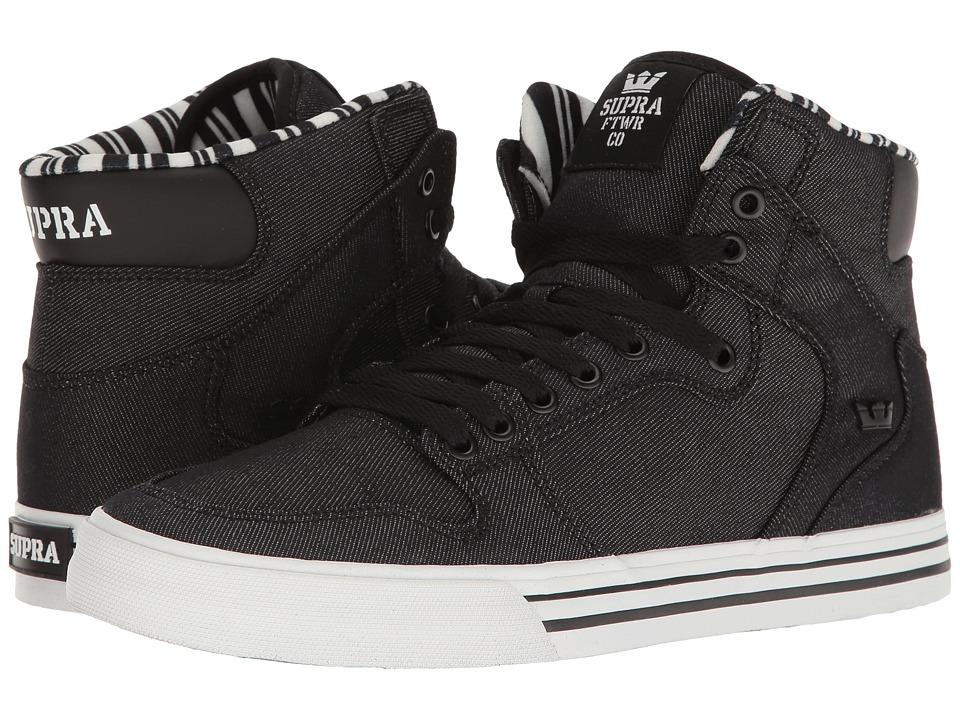 Supra Vaider (Black Denim/White) Skate Shoes
