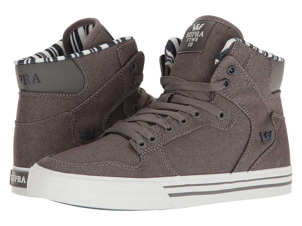 Supra - Vaider (Grey Denim/White) Skate Shoes