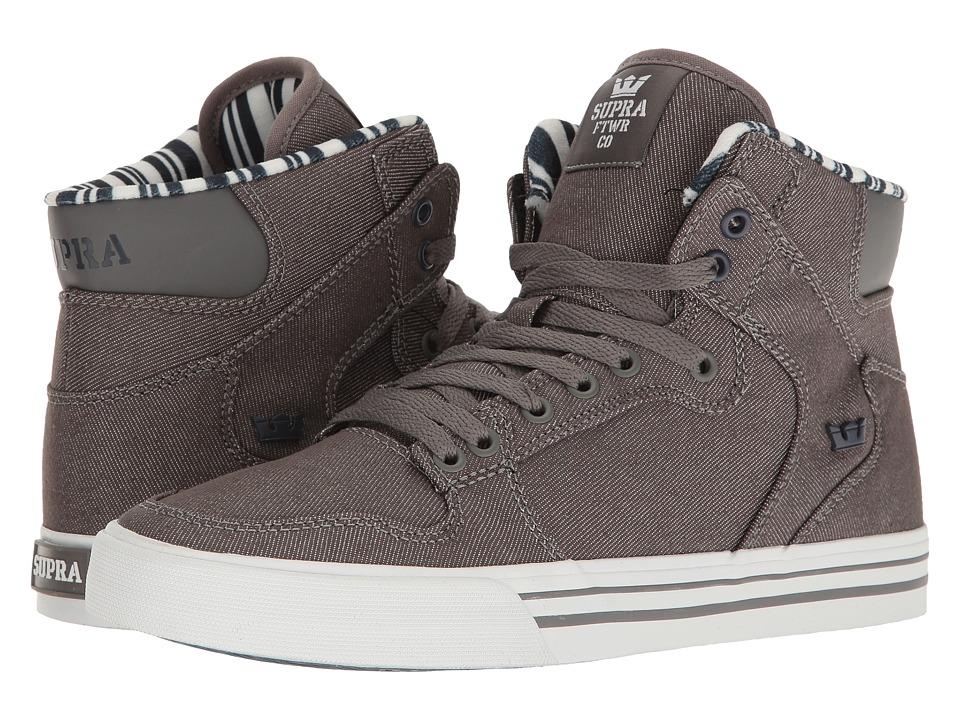 Supra Vaider (Grey Denim/White) Skate Shoes