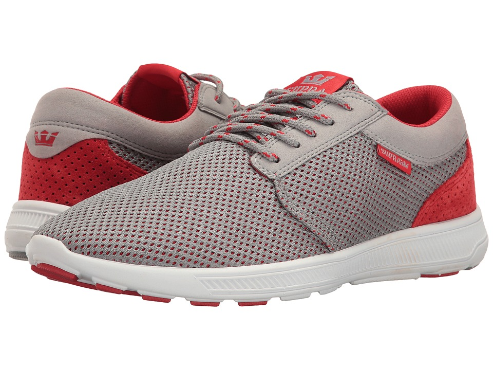 Supra - Hammer Run (Grey/Red/White) Men's Skate Shoes