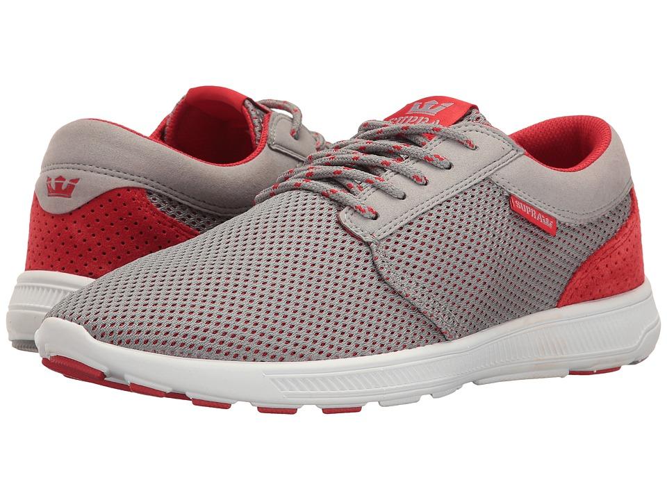Supra - Hammer Run (Grey/Red/White) Men's Skate Shoes