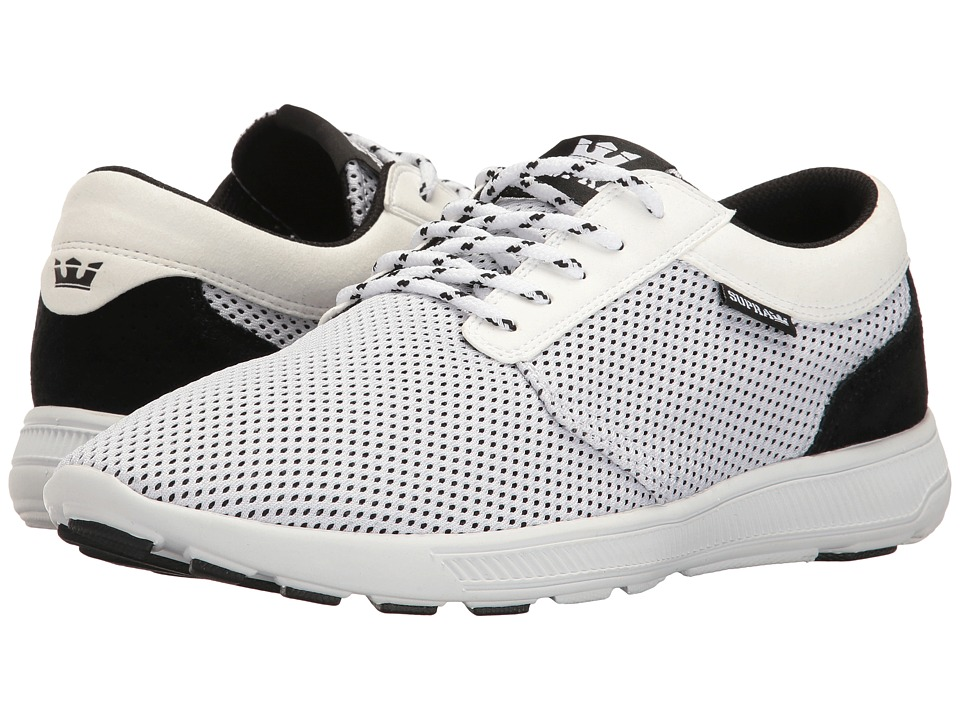 Supra - Hammer Run (White/Black/White) Men's Skate Shoes