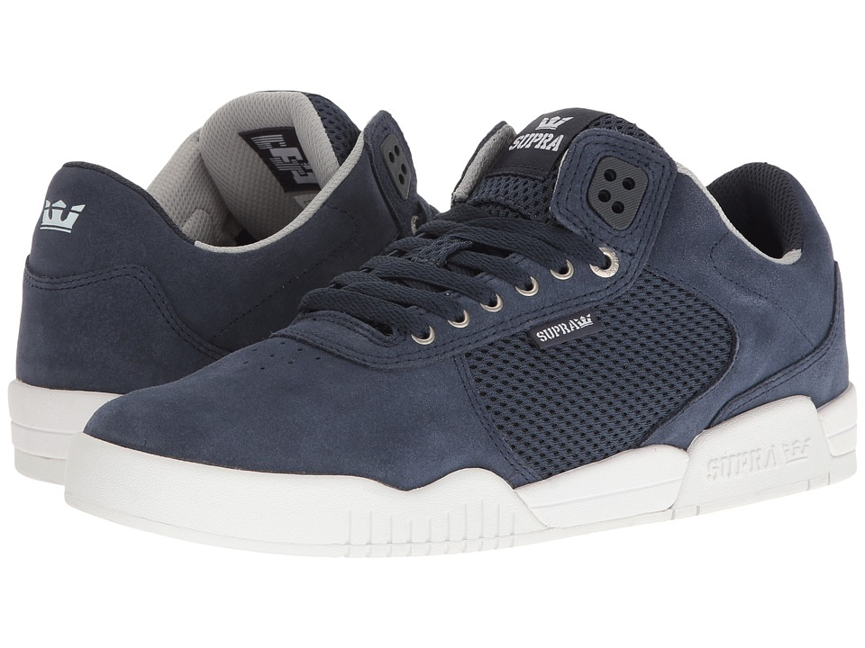 Supra - Ellington (Navy Suede/Navy/White) Men's Shoes