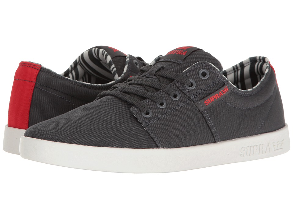 Supra - Stacks II (Dark Grey/White) Men's Skate Shoes