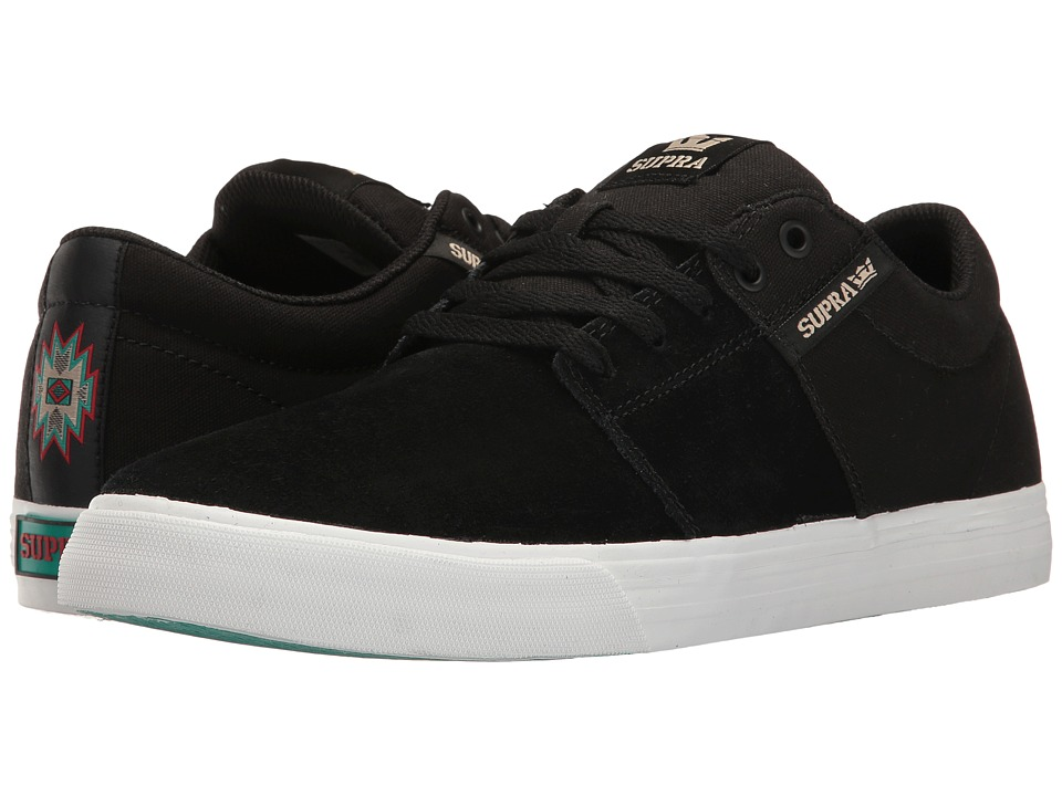 Supra - Stacks Vulc II (Black/Black/White) Men's Skate Shoes