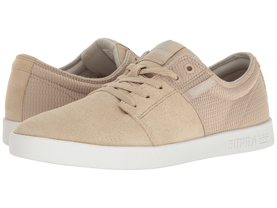 Supra - Stacks II (Tan/Tan/White) Men's Skate Shoes