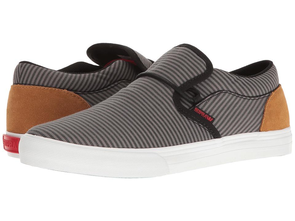 Supra - Cuba (Black/Grey/Tan/White) Men's Skate Shoes