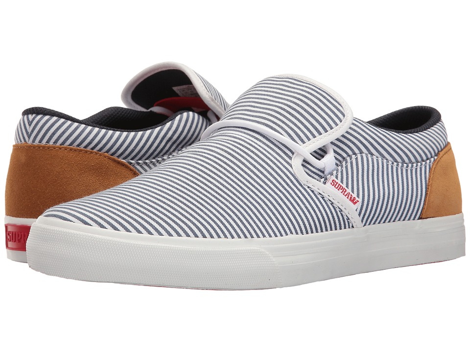Supra - Cuba (White/Navy/Tan/White) Men's Skate Shoes