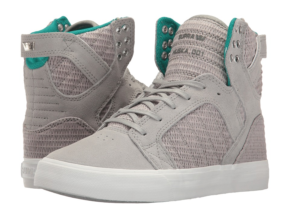 Supra Skytop (Light Grey/Grey/White) Women