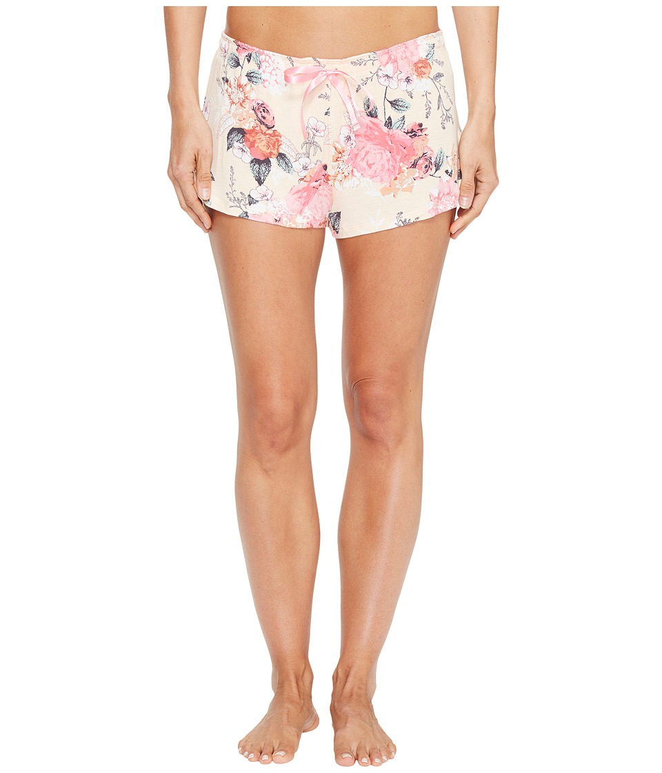 P.J. Salvage - Rosy Outlook PJ Shorts (Peach) Women's Pajama