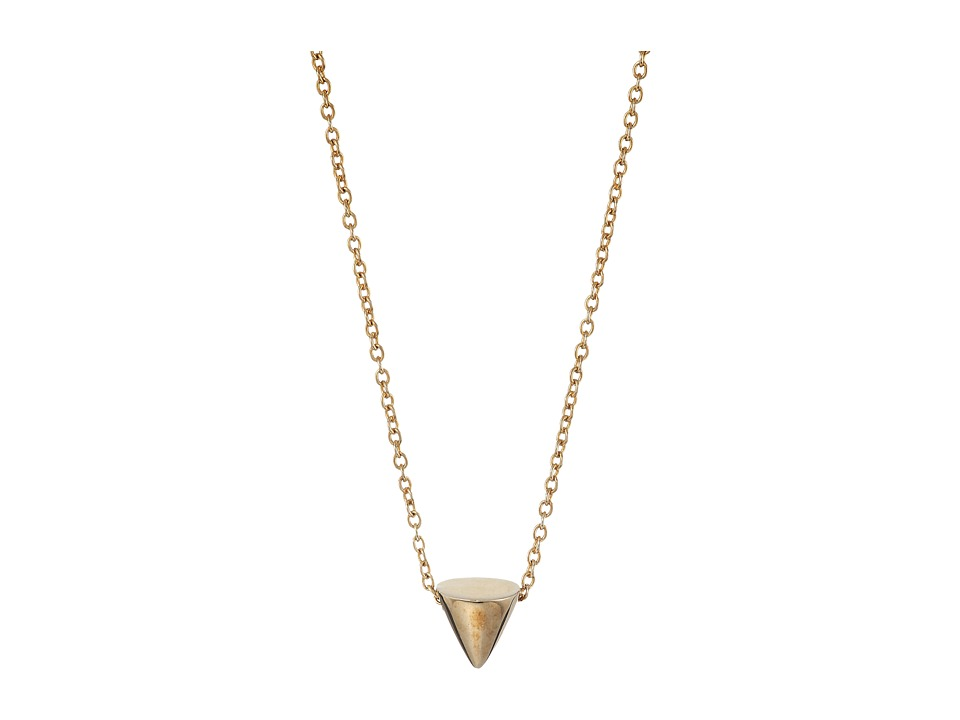Eddie Borgo - Single Cone Necklace (Gold) Necklace