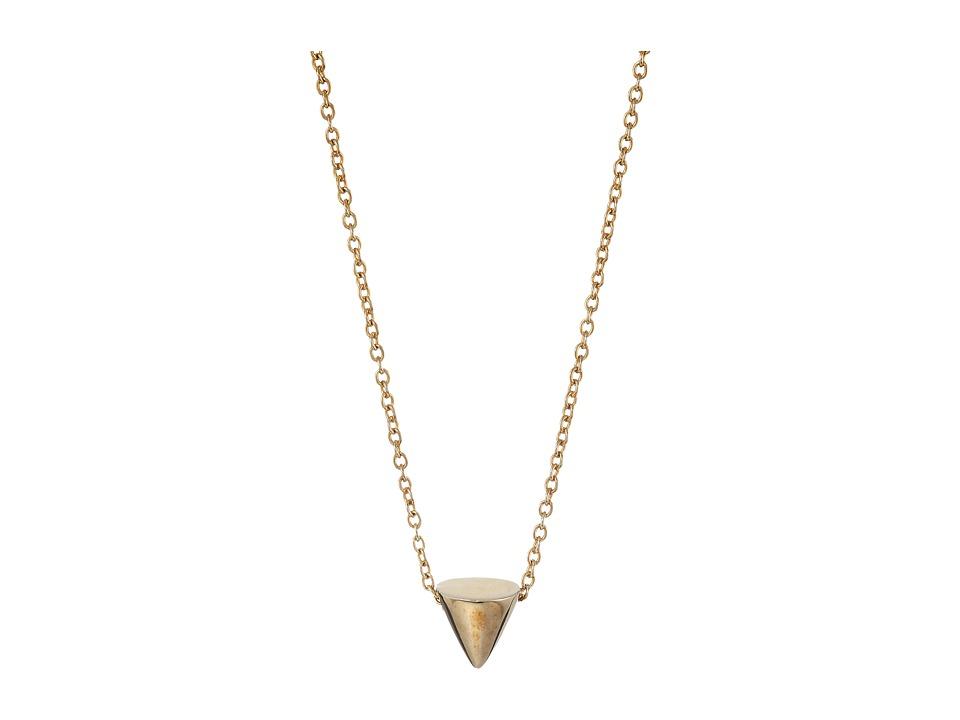 Eddie Borgo - Single Cone Necklace (Gold) Necklace