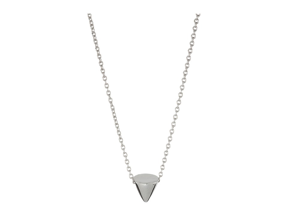 Eddie Borgo - Single Cone Necklace (Silver) Necklace