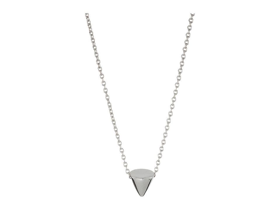 Eddie Borgo - Single Cone Necklace (Silver) Necklace