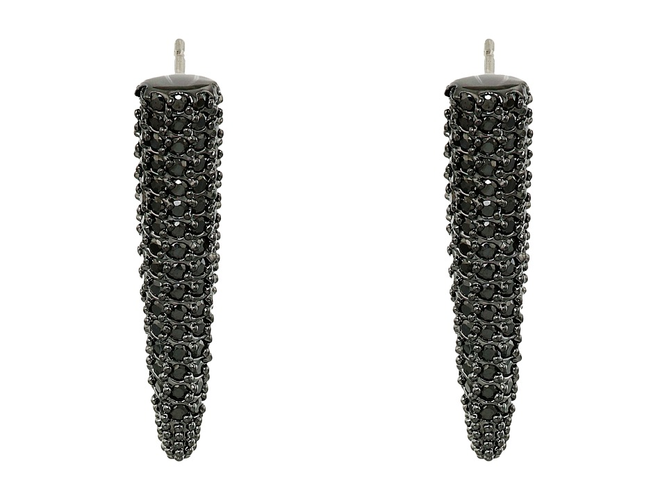 Eddie Borgo - Mini Pav Spike Earrings (Black) Earring
