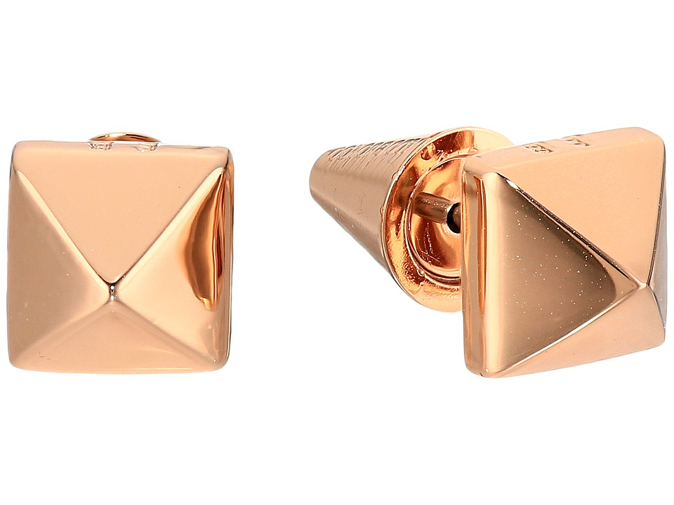 Eddie Borgo - Pyramid Stud Earrings (Rose Gold) Earring