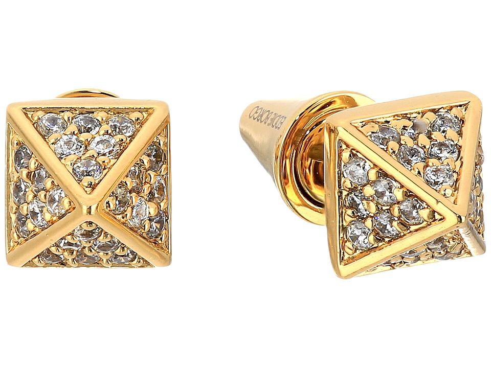 Eddie Borgo - Pav Pyramid Stud Earrings (Gold) Earring