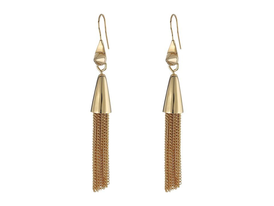 Eddie Borgo - Small Chain Tassel Earrings (Gold) Earring