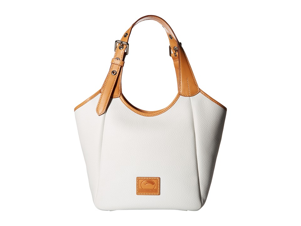 Dooney & Bourke - Patterson Penelope (White/Butterscotch Trim) Handbags
