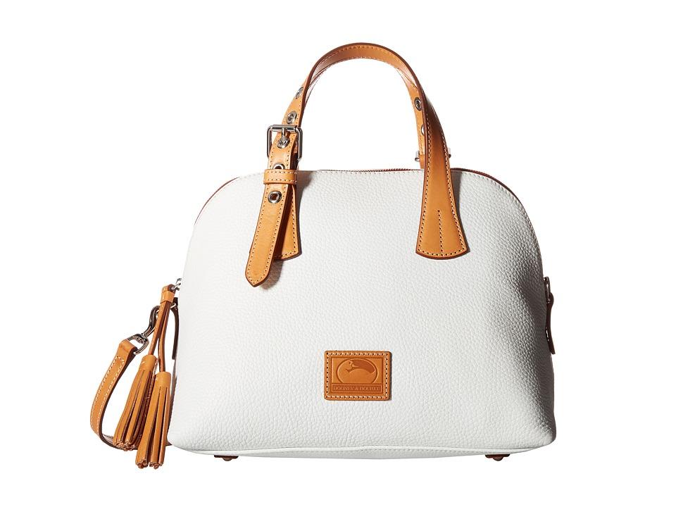 Dooney & Bourke - Patterson Small Audrey (White/Butterscotch Trim) Handbags