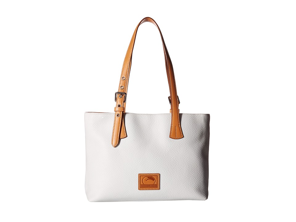 Dooney & Bourke - Patterson Small Hanna (White/Butterscotch Trim) Handbags