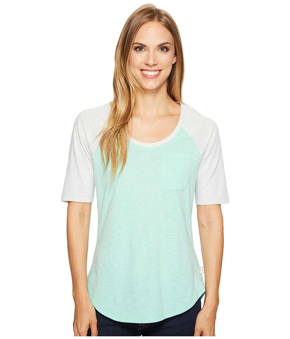 The North Face 3/4 Sleeve Flashdry Mini Stripe Tee (Bermuda Green Heather) Women