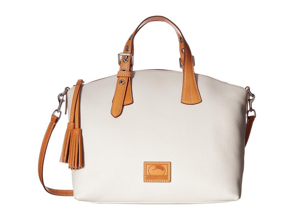 Dooney & Bourke - Patterson Large Trina Satchel (Bone/Butterscotch Trim) Satchel Handbags