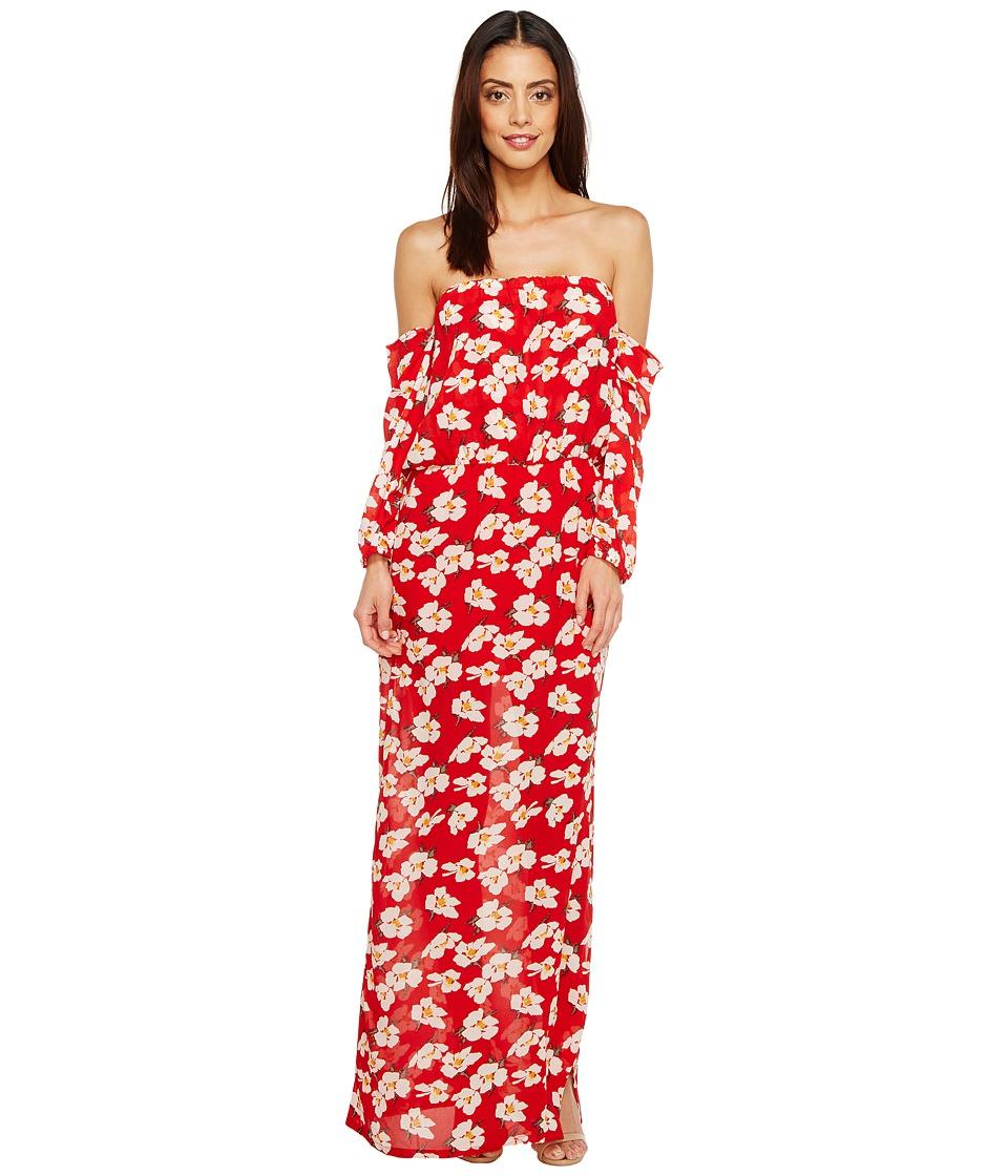 Brigitte Bailey - Ruby Off the Shoulder Maxi Dress (Red) Women's Dress
