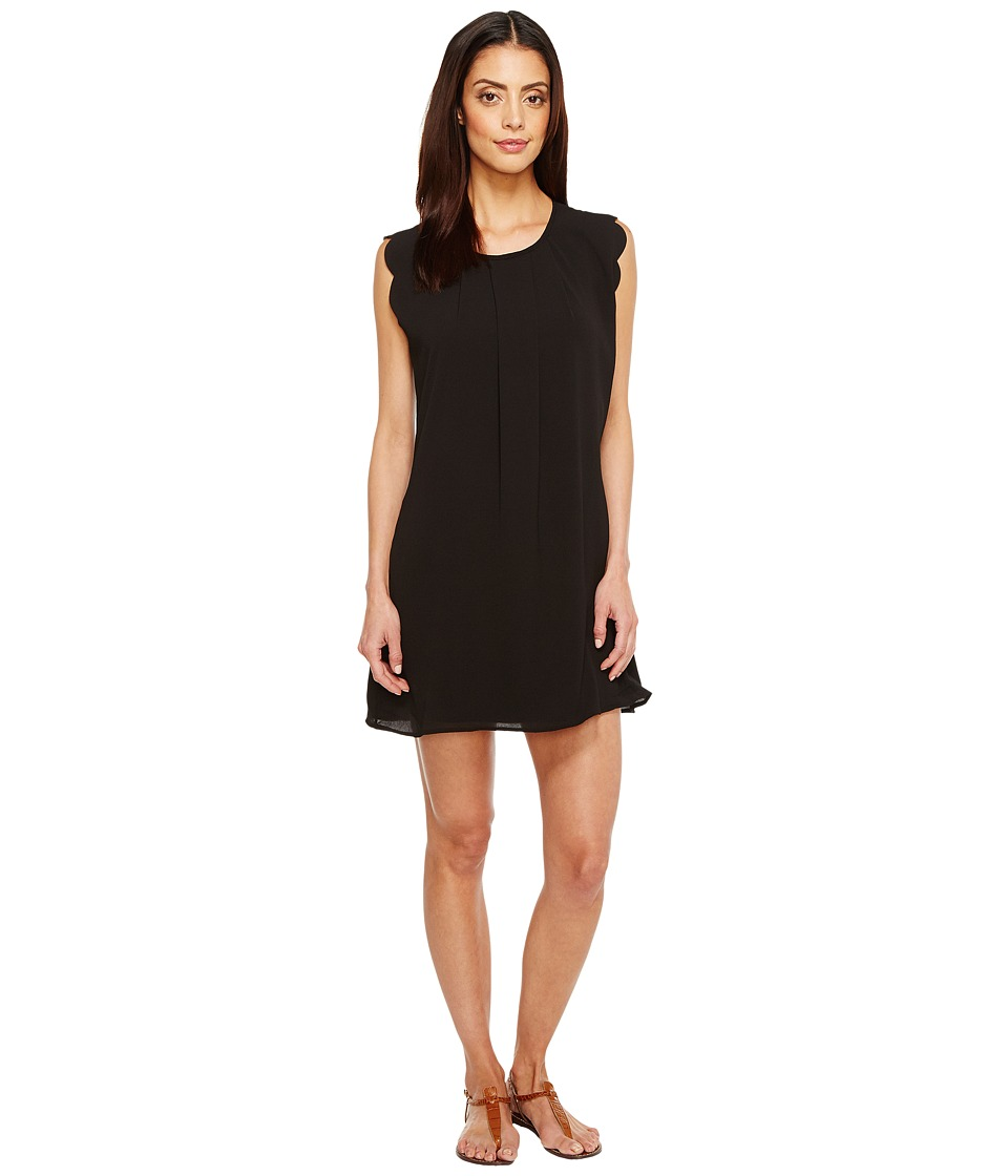 Brigitte Bailey - Edith Scallop Sleeve Dress (Black) Women's Dress