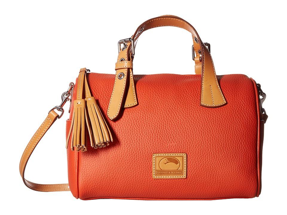 Dooney & Bourke - Patterson Kendra Satchel (Persimmon/Butterscotch Trim) Satchel Handbags