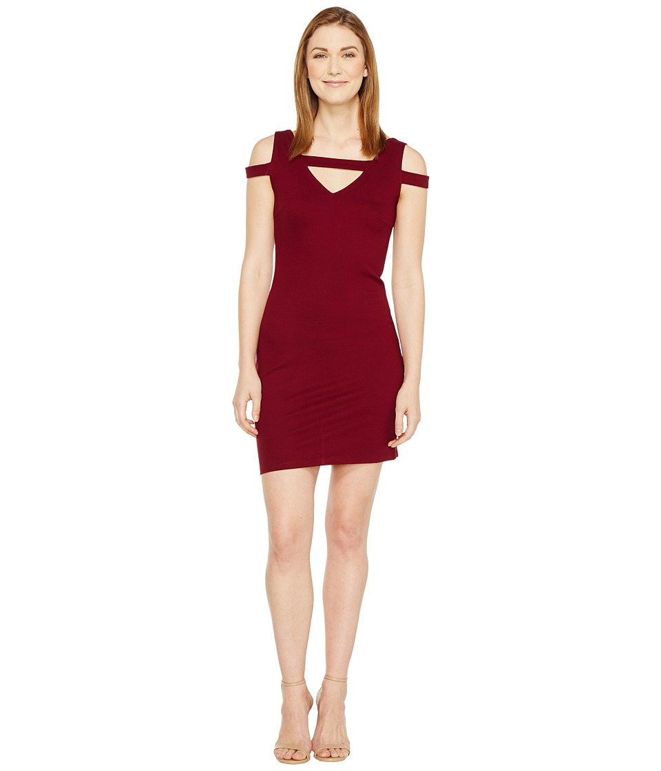 Christin Michaels - Galia Strappy Bodycon Dress (Burgundy) Women's Dress