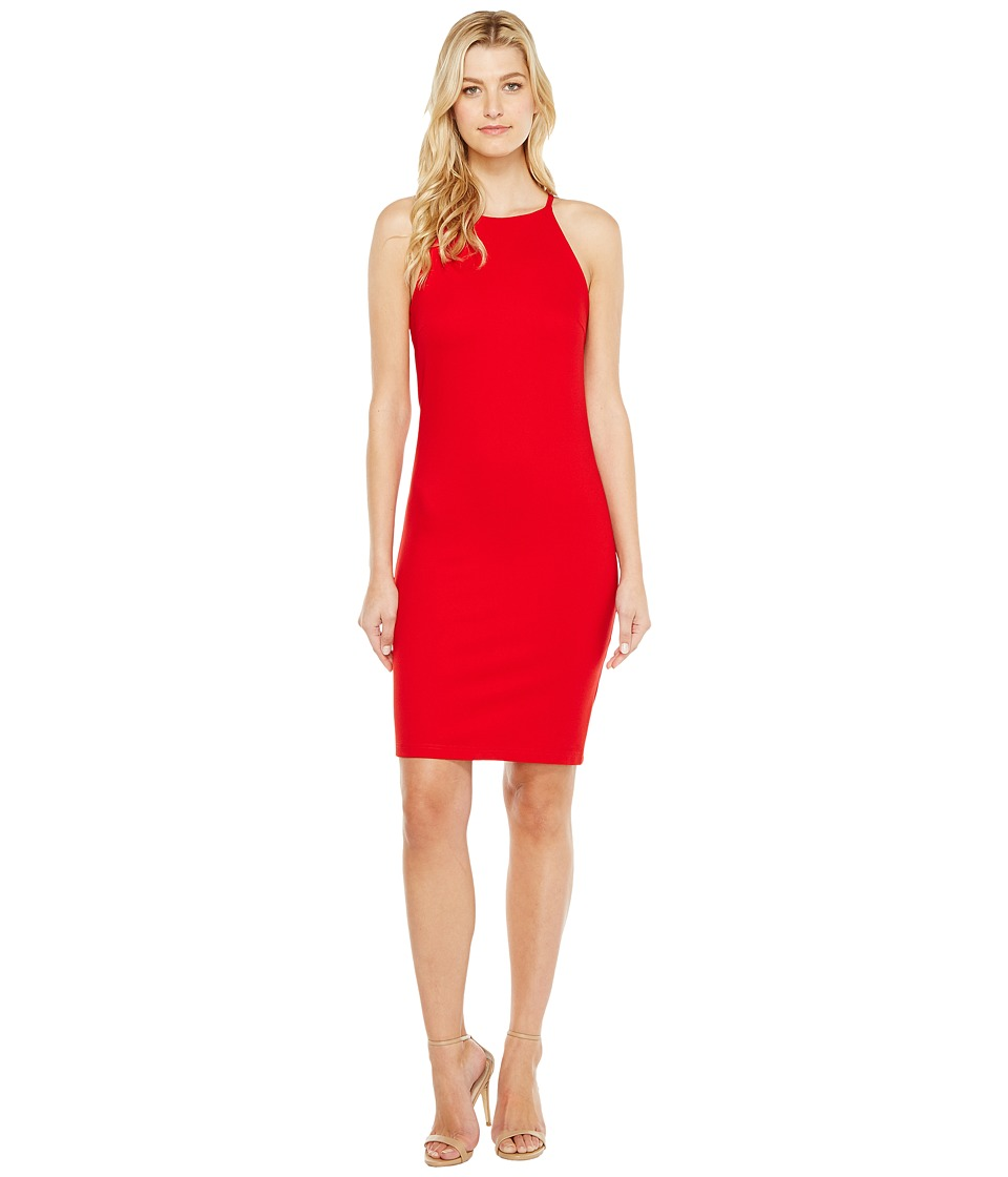 Christin Michaels - Sigrid High Neck Spaghetti Strap Dress (Red) Women's Dress
