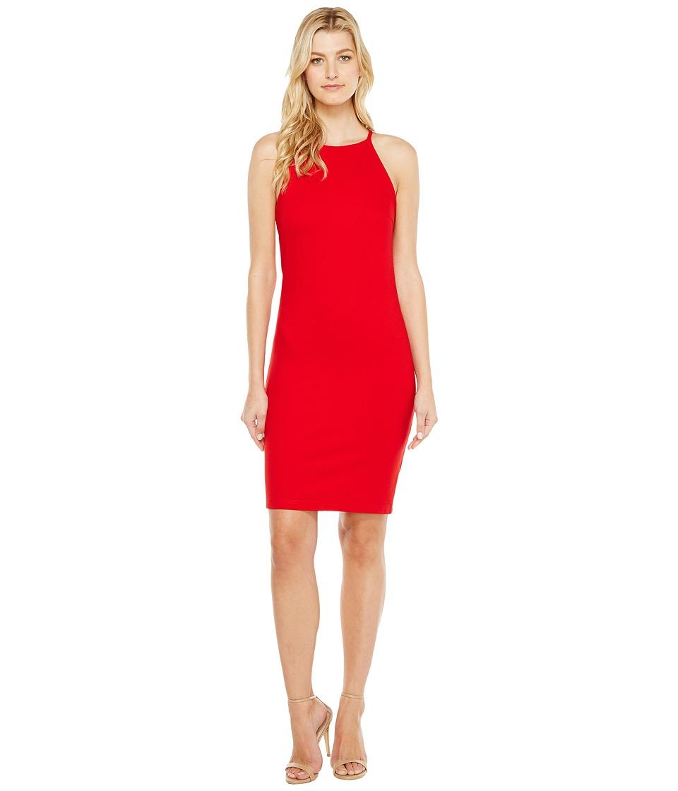 Christin Michaels Sigrid High Neck Spaghetti Strap Dress (Red) Women