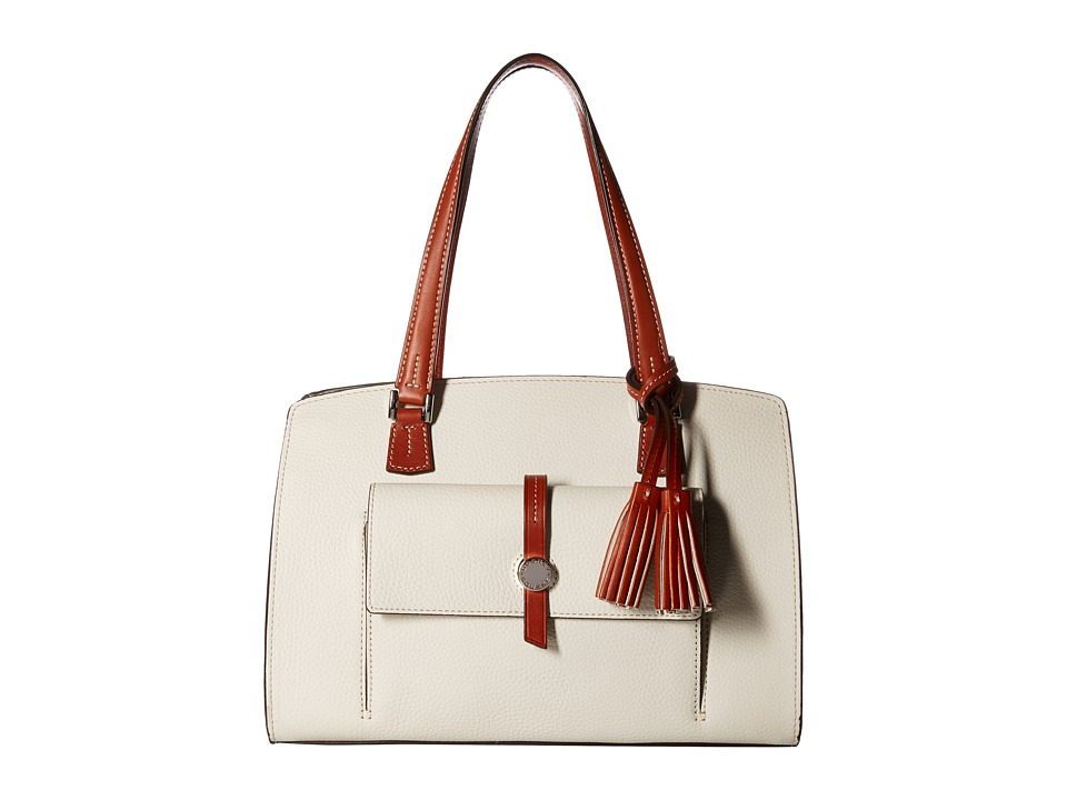 Dooney & Bourke - Cambridge Shoulder Bag (Bone/Tan Trim) Shoulder Handbags