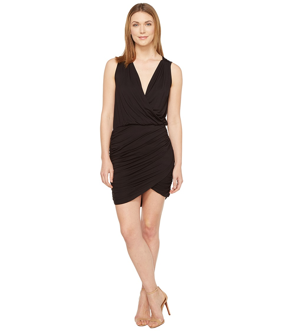 Culture Phit - Merritt Sleeveless Ruched Crossover Dress (Black) Women's Dress