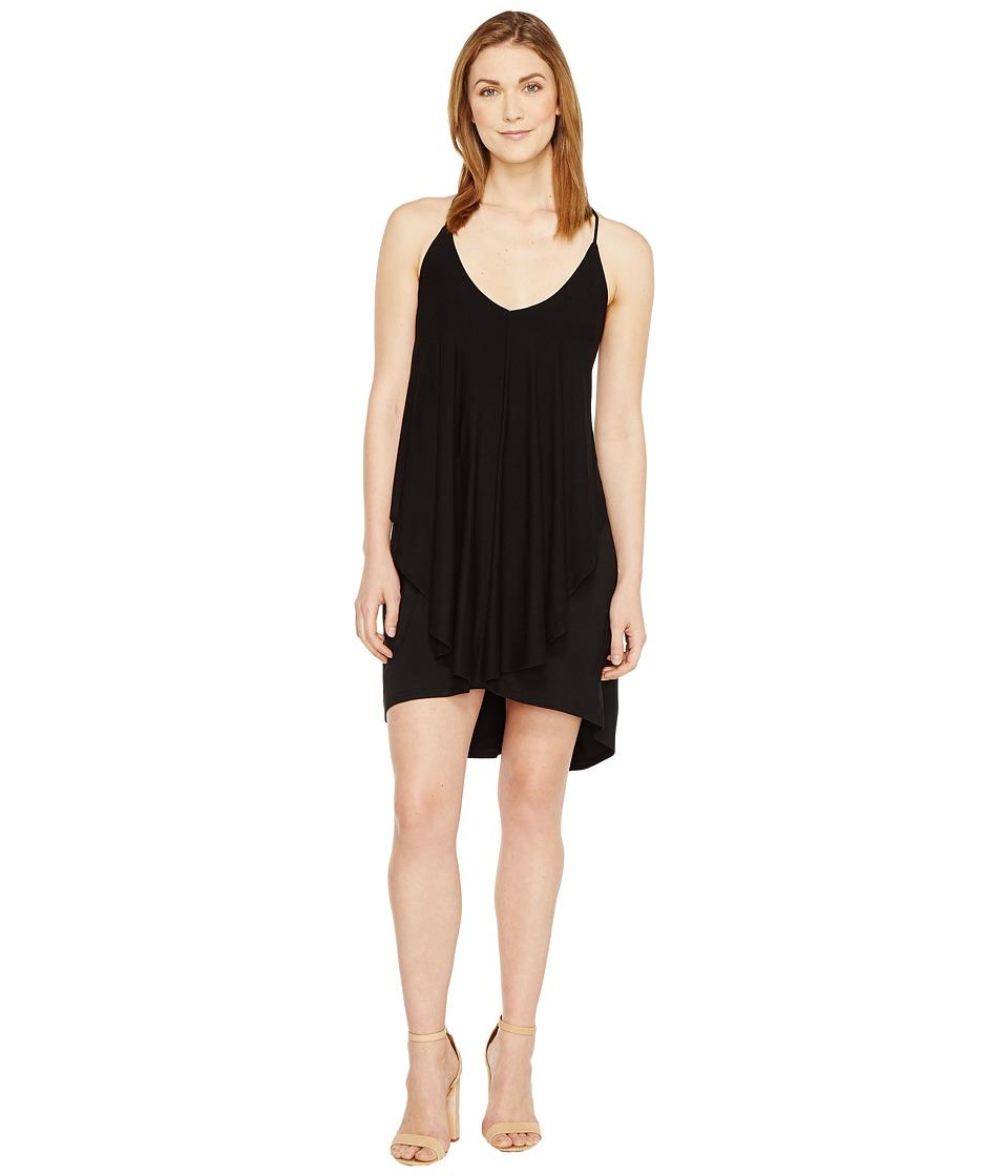 Culture Phit - Dalmar Spaghetti Strap Ruffle Dress (Black) Women's Dress