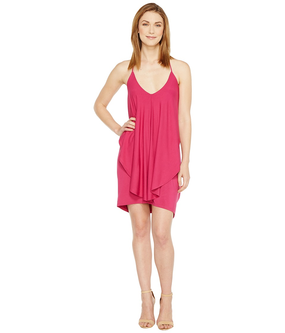 Culture Phit Dalmar Spaghetti Strap Ruffle Dress (Fuchsia) Women
