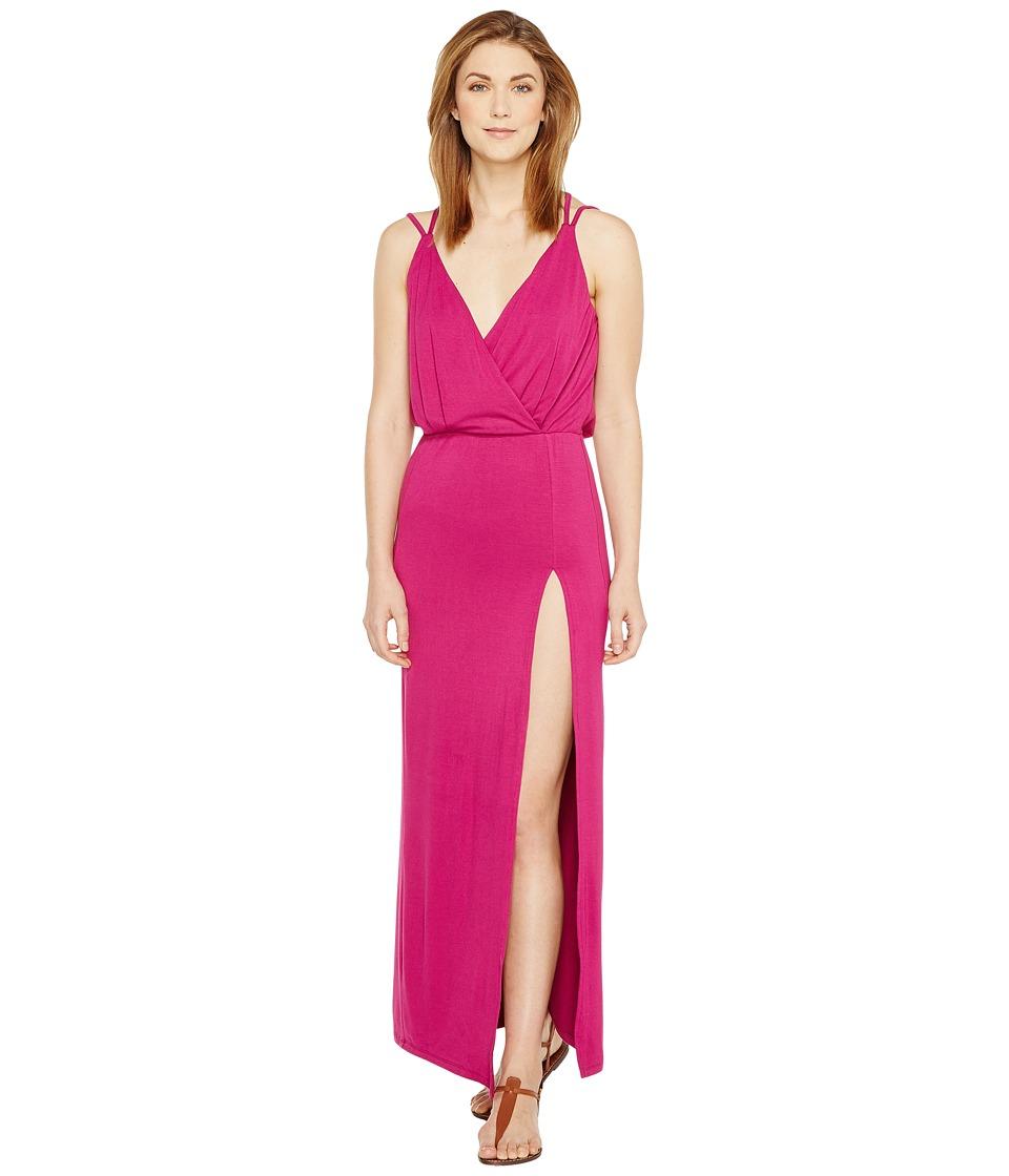 Culture Phit - Elea Spaghetti Strap Maxi Dress with Side Slit (Purple) Women's Dress