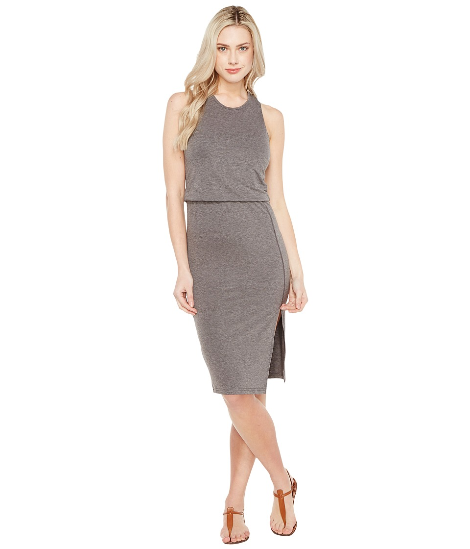 Culture Phit - Bisette Sleeveless Midi Dress with Side Slit (Charcoal) Women's Dress