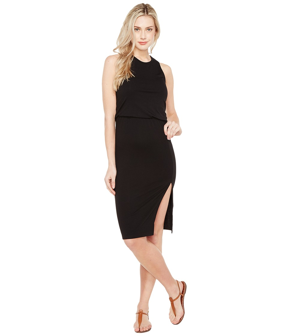 Culture Phit Bisette Sleeveless Midi Dress with Side Slit (Black) Women