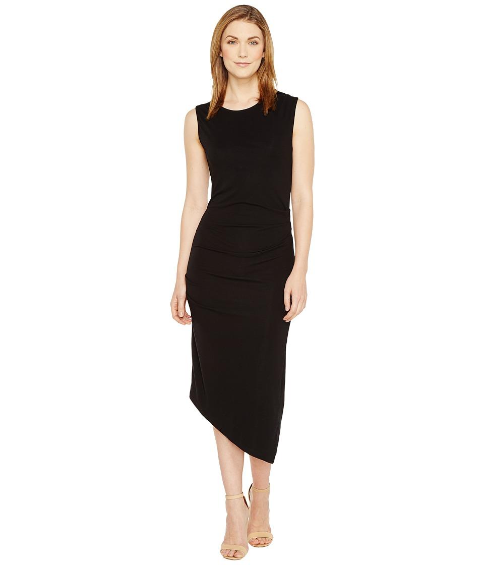 Culture Phit - Kaprice Sleeveless Side Ruched Dress (Black) Women's Dress