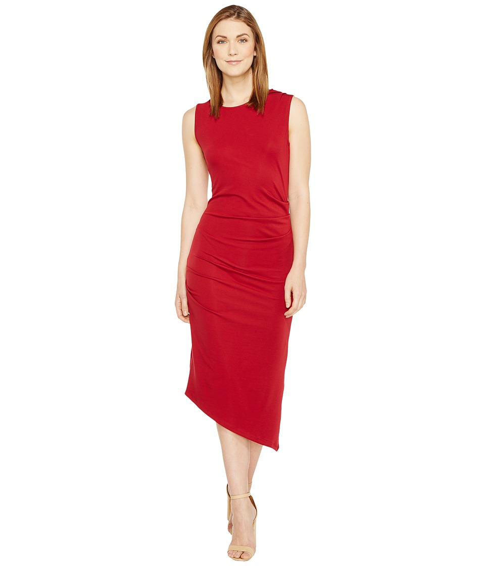 Culture Phit - Kaprice Sleeveless Side Ruched Dress (Burgundy) Women's Dress