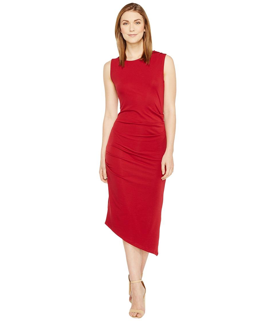 Culture Phit - Kaprice Sleeveless Side Ruched Dress (Burgundy) Women's Dress