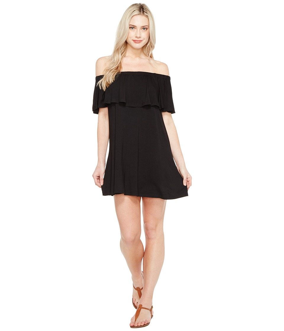 Culture Phit - Summer Off the Shoulder Ruffle Dress (Black) Women's Dress