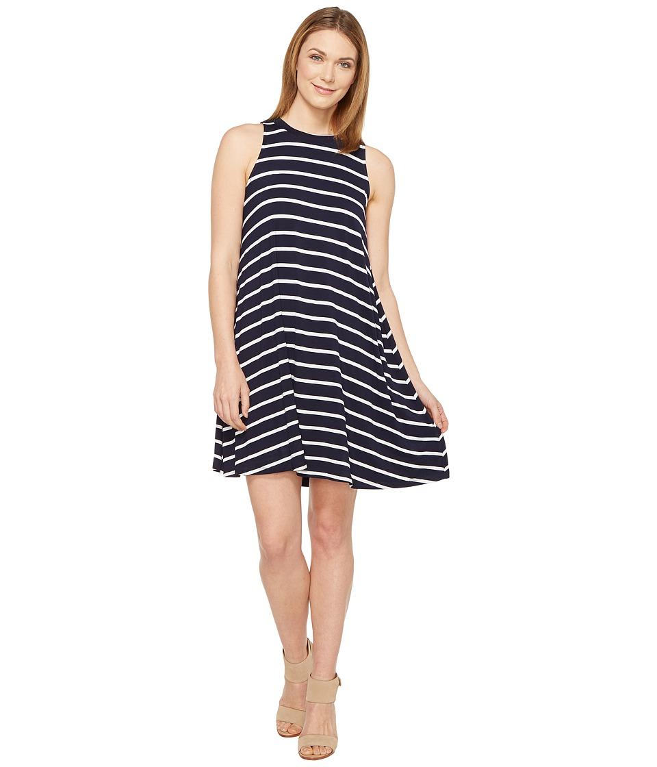Culture Phit - Toni Sleeveless Dress (Navy/White) Women's Dress
